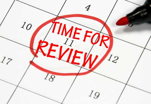 Business review yearly taking stock