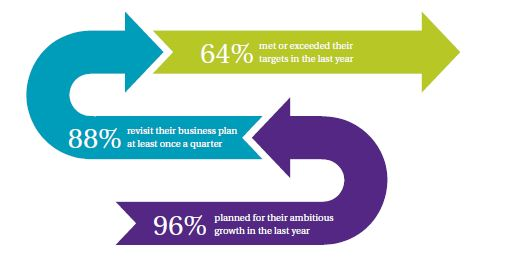Plan to succeed diagram taken from GrowthAccelerator Hyper Growth Insights Study 2014
